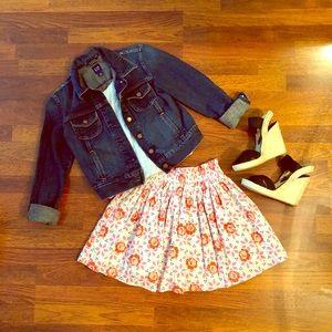 EUC (Re-Posh) 🌸 Frenchi Floral Skater Mini Skirt